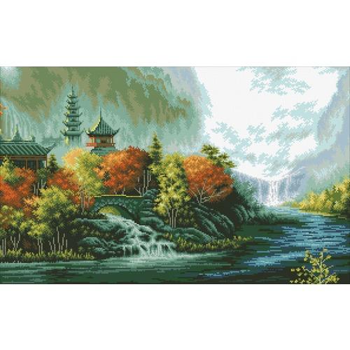"""Набор для выкладывания мозаики Паутинка """"Китайский пейзаж"""""""