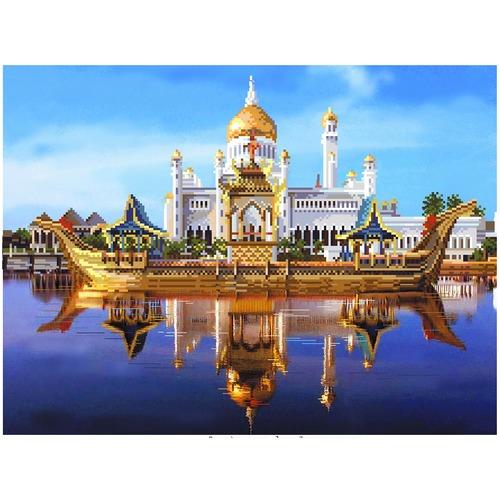 """Канва/ткань с нанесенным рисунком Матрёнин посад """"Мечеть Омара Али Саифутдина"""""""