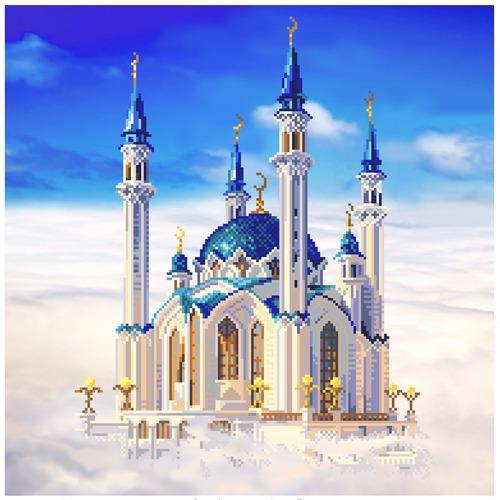"""Канва/ткань с нанесенным рисунком Матрёнин посад """"Мечеть Кул-Шериф в Казани"""""""