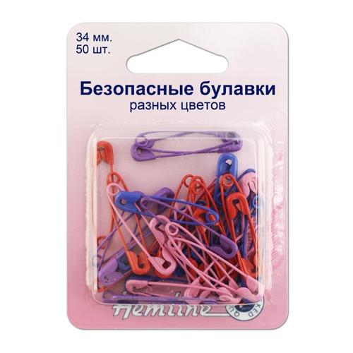 Аксессуары Hemline Безопасные булавки, цветные