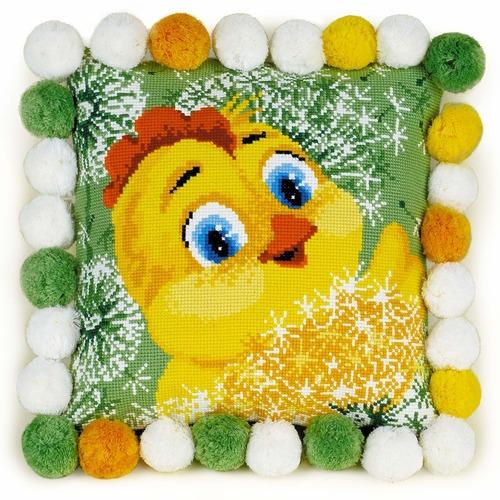 """Набор для вышивания крестом Риолис Подушка """"Цыпленок"""""""