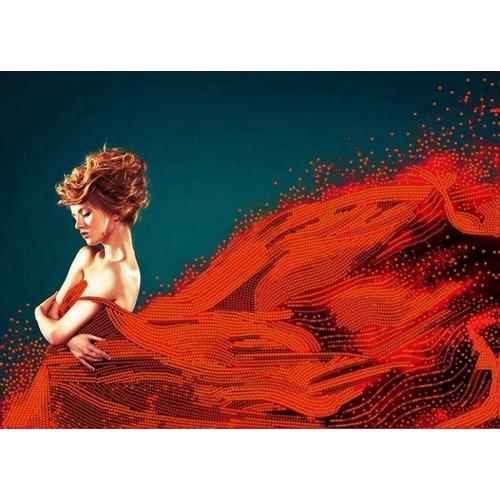 """Канва/ткань с нанесенным рисунком Конёк """"Леди в красном"""""""