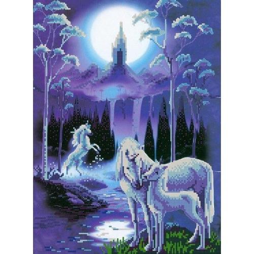 "Канва/ткань с нанесенным рисунком Конёк ""Лунная ночь"""