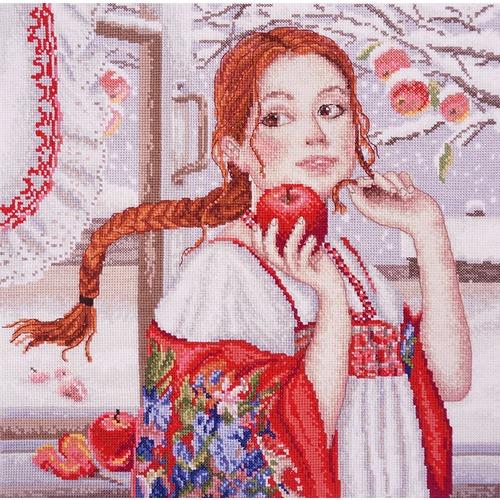 """Набор для вышивания крестом Марья искусница """"Наливное яблоко"""""""