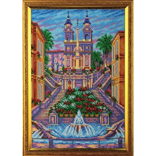"""Набор для вышивания бисером Радуга бисера (Кроше) """"Испанская лестница. Рим"""""""