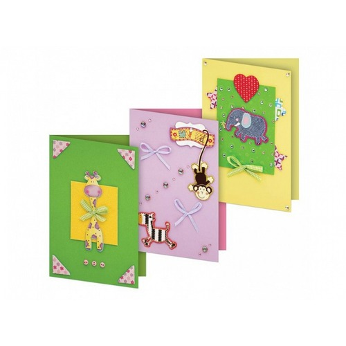 """Аксессуары Белоснежка """"Веселая мозаика"""" набор для создания 3-х открыток"""
