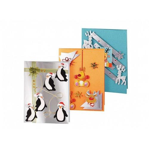 """Аксессуары Белоснежка """"Веселые пингвины"""" набор для создания 3-х открыток"""