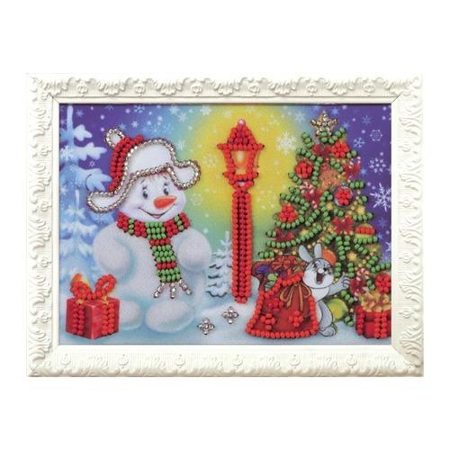 """Набор для вышивания бисером Радуга бисера (Кроше) """"Снеговик"""""""
