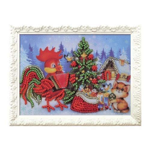 """Набор для вышивания бисером Радуга бисера (Кроше) """"Новогодняя ёлочка"""""""