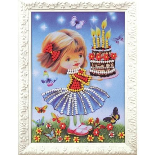 """Набор для вышивания бисером Радуга бисера (Кроше) """"Праздничный торт"""""""