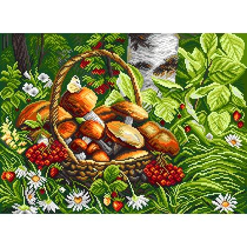 """Канва/ткань с нанесенным рисунком Матрёнин посад """"Первые грибы"""""""