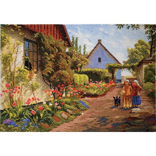 """Набор для вышивания крестом Марья искусница """"Дома в цвету"""""""