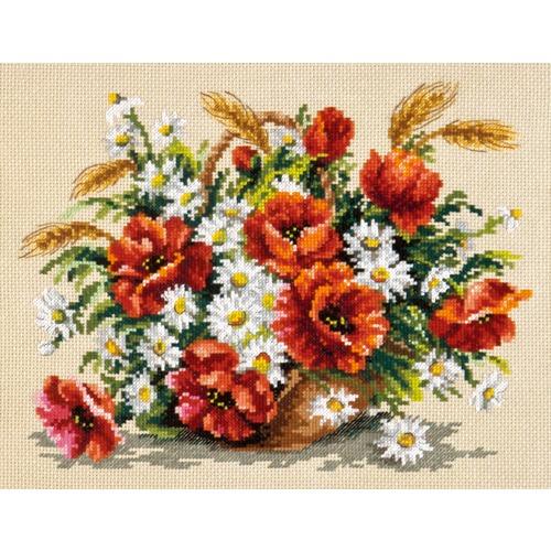 """Набор для вышивания крестом Чудесная игла """"Букет полевых цветов"""""""