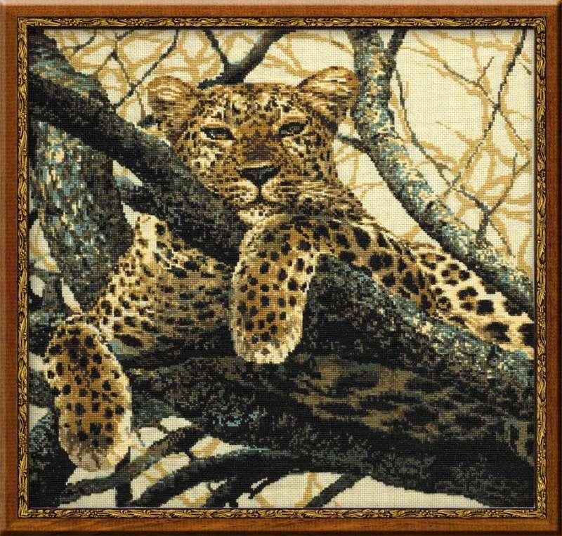 Купить вышивку крестом леопард