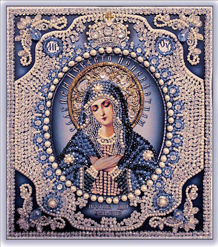 Набор для вышивки икон с натуральными камнями