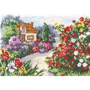 """Набор для вышивания крестом Чудесная игла """"Цветущий сад"""""""