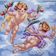"""Канва/ткань с нанесенным рисунком Gobelin-L """"Ангелочки в розовом"""""""