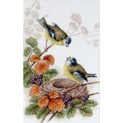 """Набор для вышивания крестом Luca-S """"Птичка у гнезда"""""""