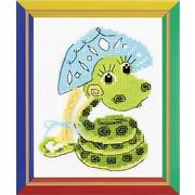 """Набор для вышивания крестом Риолис """"Новогодняя змейка"""""""