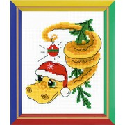 """Набор для вышивания крестом Риолис """"Новогодний змей"""""""