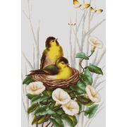 """Набор для вышивания крестом Luca-S """"Птички в гнезде"""""""