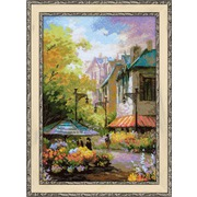 """Набор для вышивания крестом Риолис """"Цветочная улица"""""""