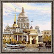 """Набор для вышивания крестом Риолис """"Санкт-Петербург. Адмиралтейская набережная"""""""