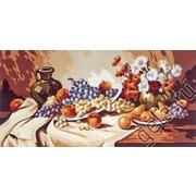 """Канва/ткань с нанесенным рисунком Gobelin-L """"Фрукты с глиняным кувшином"""""""