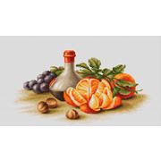 """Набор для вышивания крестом Luca-S """"Натюрморт с апельсинами"""""""
