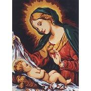 """Канва/ткань с нанесенным рисунком Diamant """"Мадонна со спящим младенцем"""""""