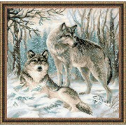 """Набор для вышивания крестом Риолис """"Волчья пара"""""""