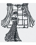"""Набор для вышивания крестом М.П. Студия """"Дама у окна (ч-б)"""""""