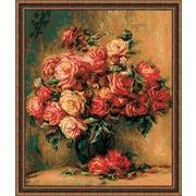 """Набор для вышивания крестом Риолис """"Букет роз по мотивам картины Пьера Огюста Ренуара """""""