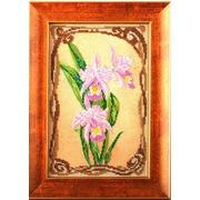 """Набор для вышивания бисером Радуга бисера (Кроше) """"Грациозные орхидеи"""""""