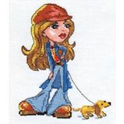 """Набор для вышивания крестом Алиса """"Леди Джинс"""""""
