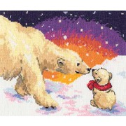 """Набор для вышивания крестом Алиса """"Белые медведи"""""""