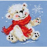 """Набор для вышивания крестом Алиса """"Белый медвежонок"""""""