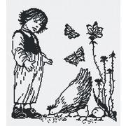 """Набор для вышивания крестом М.П. Студия """"Мальчик с курицей"""""""
