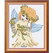 """Набор для вышивания крестом М.П. Студия """"Ангел в желтом"""""""