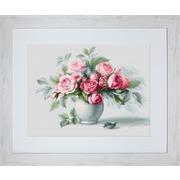 """Набор для вышивания крестом Luca-S """"Этюд с чайными розами"""""""