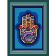 "Канва/ткань с нанесенным рисунком Конёк ""Хамса (рука Бога)"""