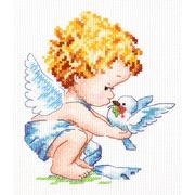 """Набор для вышивания крестом Чудесная игла """"Светлый Ангел!"""""""