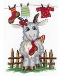 """Набор для вышивания крестом М.П. Студия """"Коза с носком"""""""