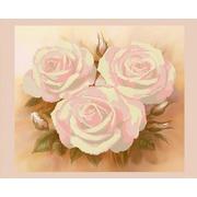 """Канва/ткань с нанесенным рисунком Конёк """"Розовые розы"""""""