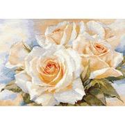 """Набор для вышивания крестом Алиса """"Белые розы"""""""