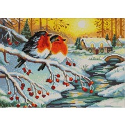 "Канва/ткань с нанесенным рисунком Конёк ""Морозное утро"""