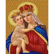 """Канва/ткань с нанесенным рисунком Конёк """"Мадонна с младенцем"""""""