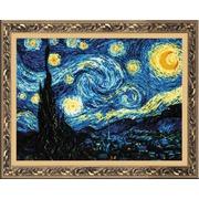 """Набор для вышивания крестом Риолис """"Звёздная ночь (Ван Гог)"""""""