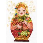 """Набор для вышивания крестом Алиса """"Матрешки. Осенняя краса"""""""
