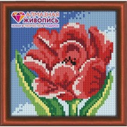 """Набор для выкладывания мозаики Алмазная живопись """"Красный тюльпан"""""""